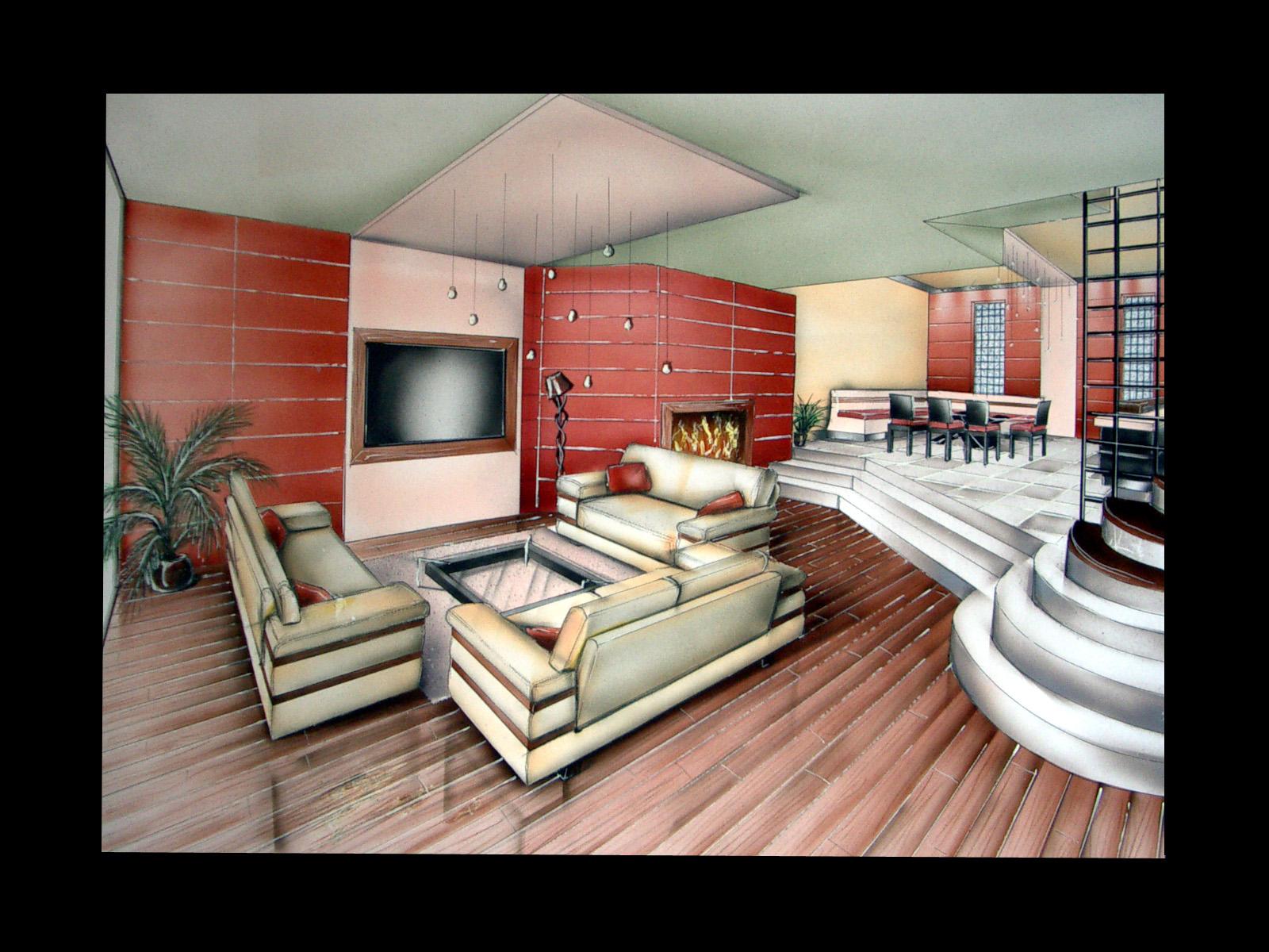 Canape Moderne Dessin Perspective : Fond pour vos créations